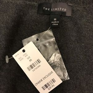 The Limited Sweaters - The Limited charcoal grey cotton cardi NWT medium
